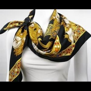 Like New Authentic Hermes Silk Scarf